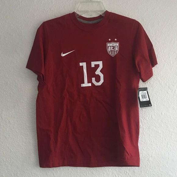 5dbc6bc2bfe Nike USWNT Alex Morgan Jersey Shirt Red YL USA 13